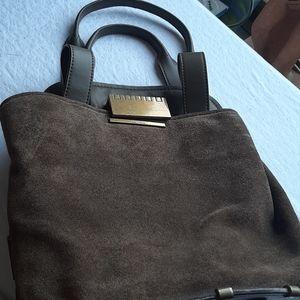 Zac Posen Blythe Suede and leather handbag